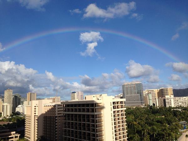 見事な虹だったなあー pic.twitter.com/K97pOwkUds
