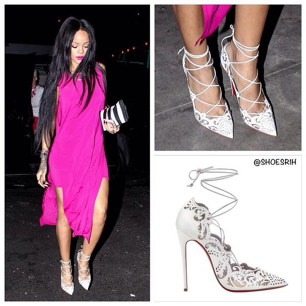 Rihanna S Shoes On Twitter Christian Louboutin White Impera