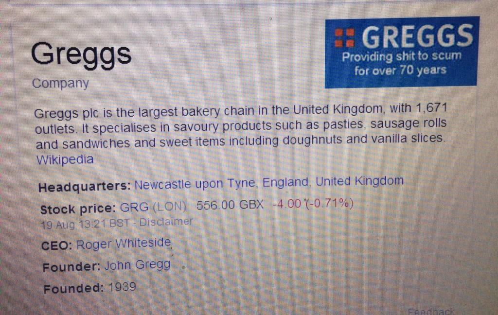 RT @Pandamoanimum: So someone at Google isn't a fan of Greggs...  (via many) http://t.co/mZcJeumMN8