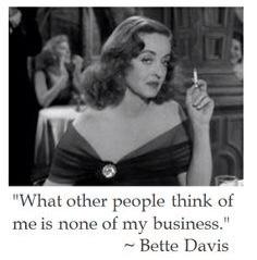 what other think of me is none of my business