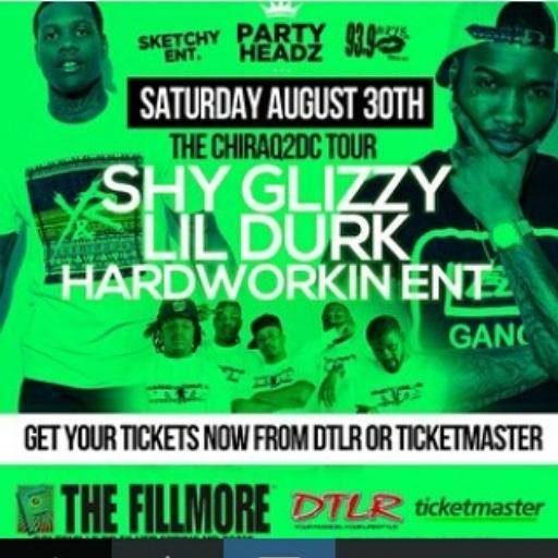 This Saturday at the Filmore @HardWorkinEnt Live with Lil Durk and Shy Glizzy http://t.co/rvRQAORLO9