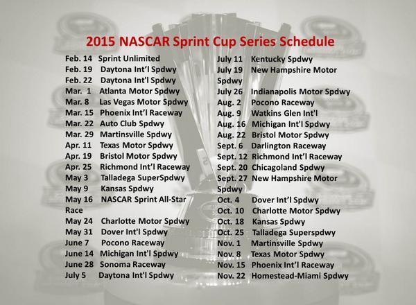 nascar sprint cup schedule 2016 pdf