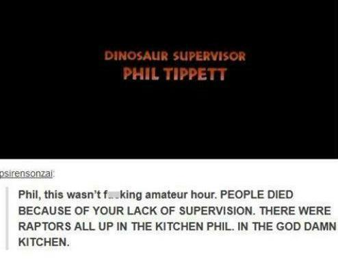 RT @cluedont: Jurassic Park is on, and I can't not think of this. One of the funniest YouTube comments ever. http://t.co/eF9EkDgNev