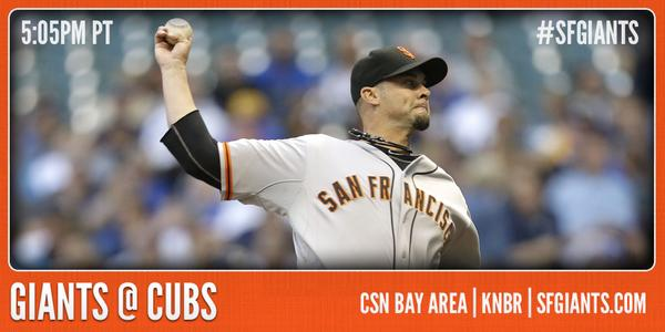 Ryan Vogelsong and the #SFGiants face off against the Cubs tonight at 5:05 PM PT. http://t.co/1h6Mrd1yx8 http://t.co/NTGvEFGw0u