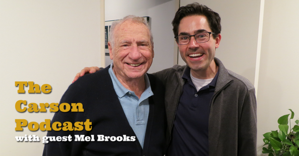 "Mel Brooks joins me on the ""Carson Podcast""! http://t.co/t988gPXANb #johnnycarson  Please RT http://t.co/Ta1gsLnE8u"