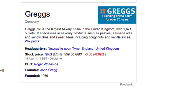 Google has fixed that dodgy Greggs logo – but why did it show up in the first place?  http://t.co/6RXRHnust4 http://t.co/y5ICdRrhbt