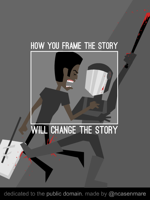 """@ncasenmare: Regarding the #Ferguson narrative... http://t.co/mZVmzkUeBw"" #fergusonsyllabus #visualrhetoric"