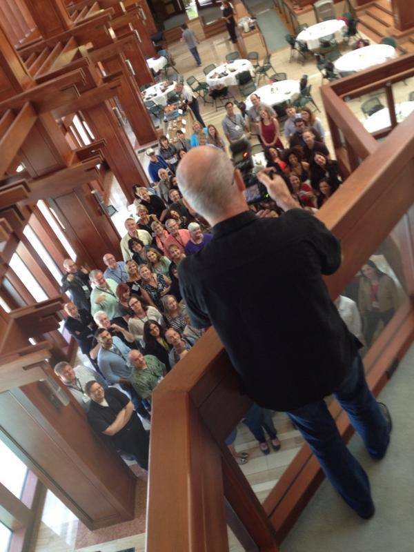 Group photo. #TEDxPoynter http://t.co/fVZEwGNCg1