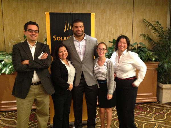 .@CleanPwrFinance team with @shawnemerriman at the #SolarWorldSummit2014 http://t.co/pK8WcezkDX