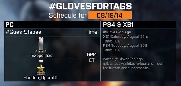 6pm ET/11pm BST. Grab @TwoScotsmen or @Exopolitician's tags to get FREE @Mechanix_Wear gloves! http://t.co/KXLDgLROX2 http://t.co/MvErqjfpCd