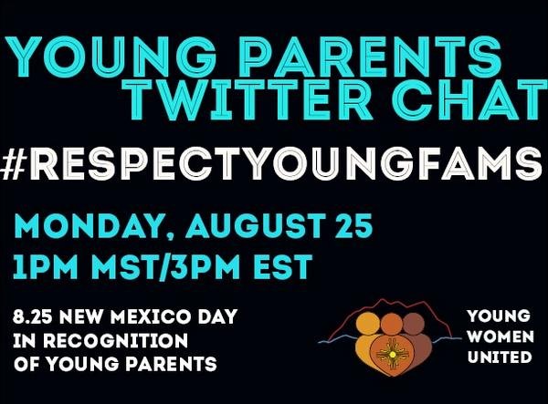 Excited to host  #RespectYoungFams chat 8/25 to talk breaking down systematic shame young parents face. Join us! http://t.co/GlEMfHDsWu