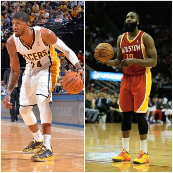 """James Harden And Paul George: NBA Player Battles! On Twitter: """"Requested #NBABattle RT"""