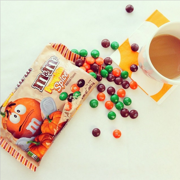 #Pumpkin flavored M&M's? Don't mind if we do! RT @celebshoppe Couldn't resist! #pumpkinMM... Now available @target ;) http://t.co/5iukGdc2GD