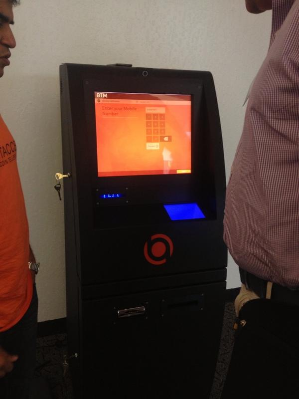 """Laura Locke on Twitter: """"This is a """"BTM"""" or @bitcoin teller machine: an ATM that buys and sells bitcoins #BitAccess #ycdemoday http://t.co/l8q7wODFUy"""""""
