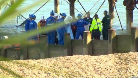 44-year-old man from Cumbria has died in a fall from the fire-damaged Eastbourne Pier. http://t.co/M8gYgnI0fZ http://t.co/xAqUAJB5HT