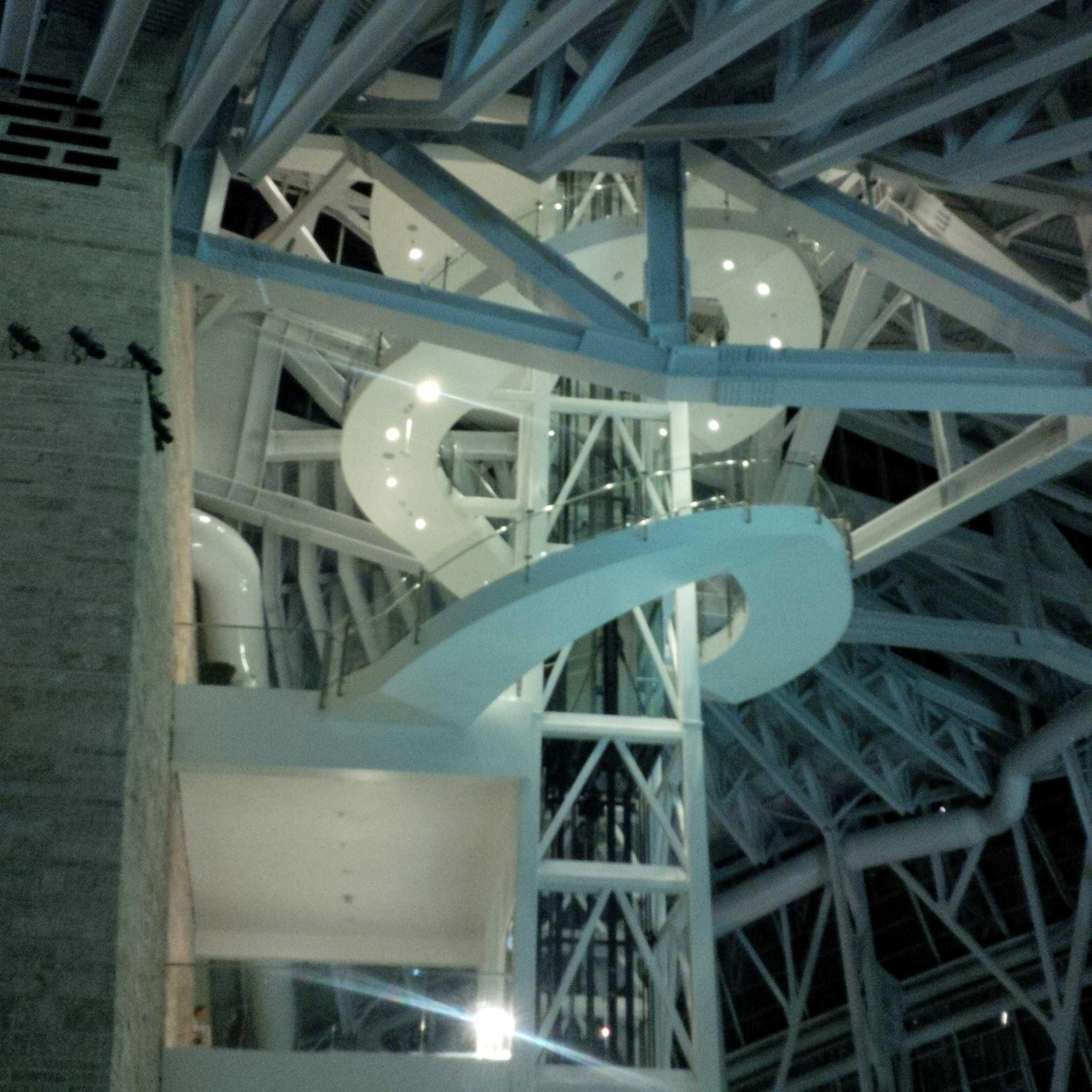 The spiral staircase up to the Tower of Hope @CMHR_News http://t.co/m0SpuQg21G