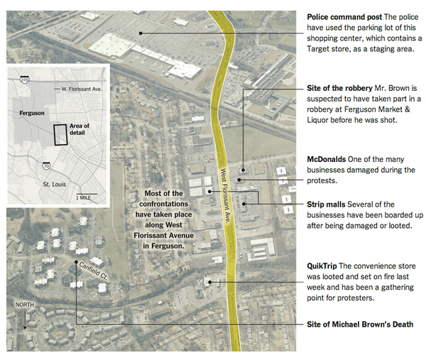 Charmant Mapping Key Locations In The #Ferguson Protests So Far U0026 More Key Facts  From @nytimes: ...