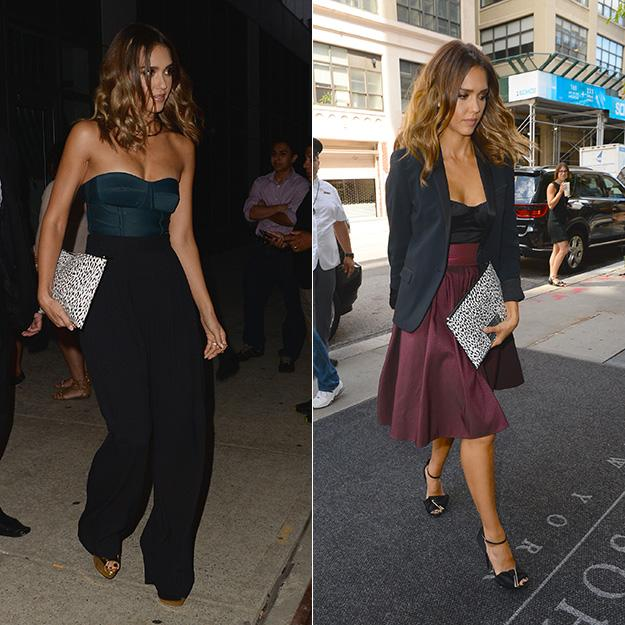 Jessica Alba smolders in two bustiers in NYC — Which do you like best? http://t.co/AE6tH898RL http://t.co/LBoSYCwSnR