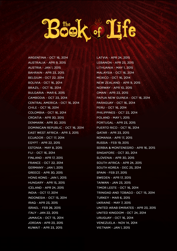 The Book Of Life 2014 Songs