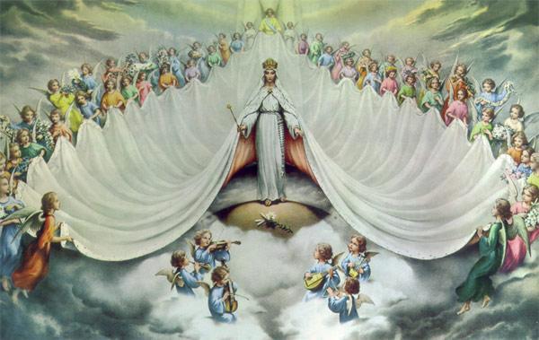 Resultado de imagen para EL MANTO DE LA VIRGEN MARIA Y LOS ANGELES