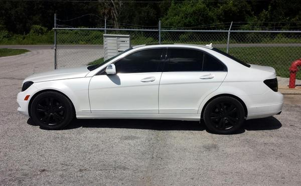 Addiption tampa on twitter mercedes c300 dipped ballon for Mercedes benz c300 black rims