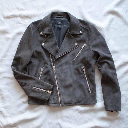 No wardrobe is complete without a biker jacket! We are loving this soft suede one from  #HMTrend #HMMan http://t.co/5MJsuWBCLn