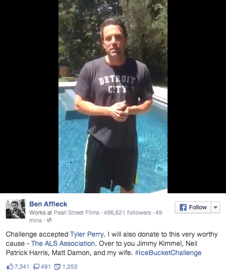 Ben Affleck basically wins the ice bucket challenge with this adorable family video: http://t.co/ZsRdM1GAXB http://t.co/DtZYtJFF1V