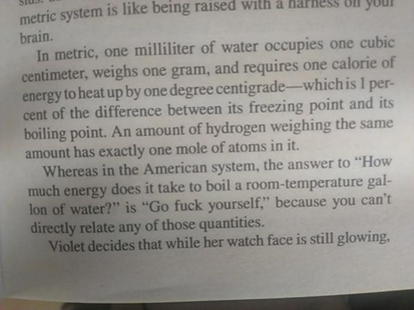 The metric system vs imperial - this made me laugh so hard.