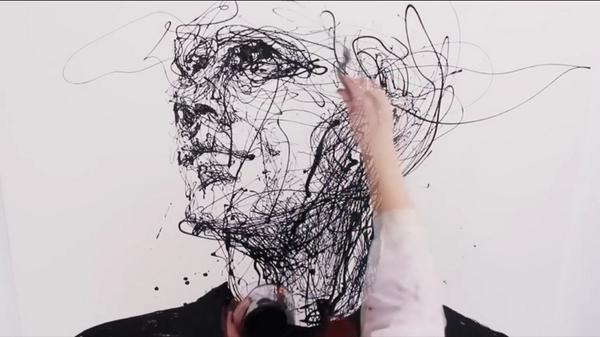 Mesmerized by the fluid lines of artist Agnes Cecile... http://t.co/OG0RlaRPIO #acrylic #enamelpaint #canvas http://t.co/UJUlskhhlb