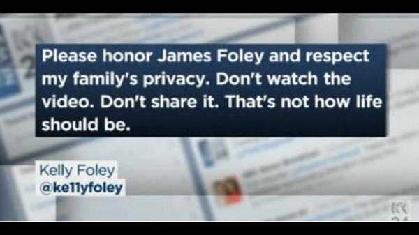 La petición de la familia de James Foley #RespectJamesFoley http://t.co/Bv55RRPmo1