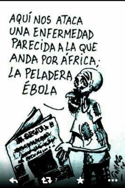 """""""@DiscosVEVO: @MariaConchita_A El ebola nos mata en Venezuela: Peladera ebola y falta ebola http://t.co/GpHBxgrbsp #CaracasFC"""""""
