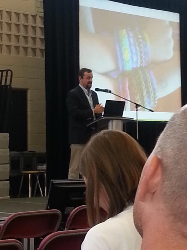 Keynote speaker Justin Reich, @bjfr at #TLDWpeel.  Needing to empower students with technology. http://t.co/AaRf8j9ShE
