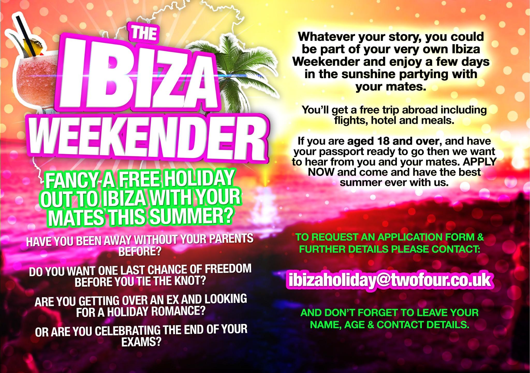 RT @IbizaWeekendTV: @nickymcdonald1 Pls RT: Need a hol?Fancy a trip to Ibiza!?Let the Ibiza Weekender know! http://t.co/vQXGQgvJvT