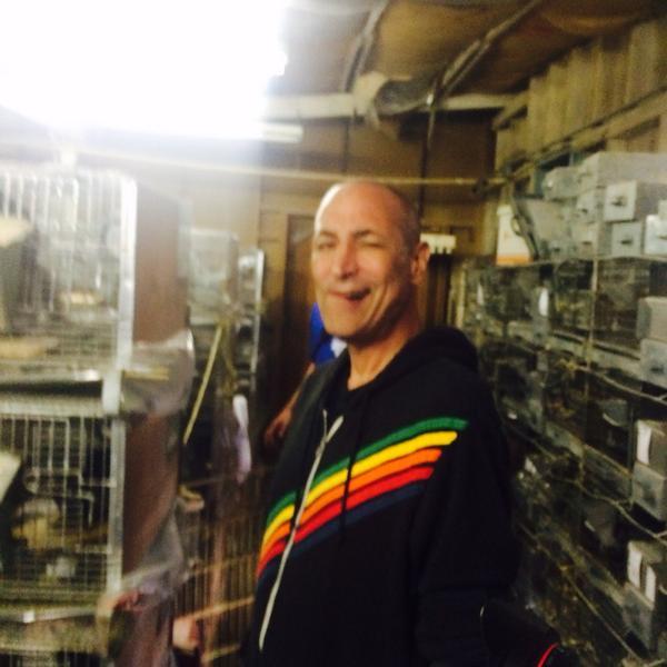 Yesterday I helped PETA shut down a chinchilla farm in San Diego. http://t.co/2OJbZYDmLm