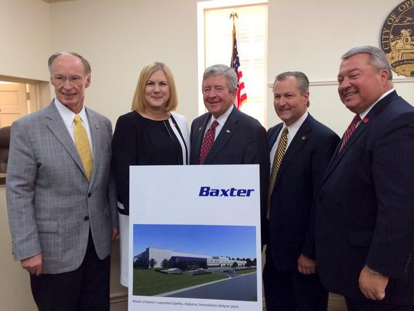 Baxter International's Gambro plant expansion announcement in Opelika, Alabama