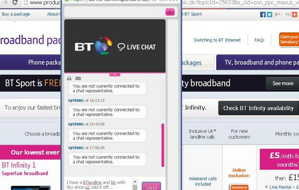 bt live chat now