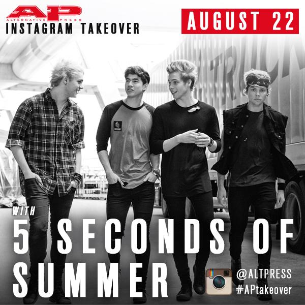 This Friday @5SOS are taking over the AP Instagram for the day! Give us a follow: http://t.co/0iKJu60jiO #APtakeover
