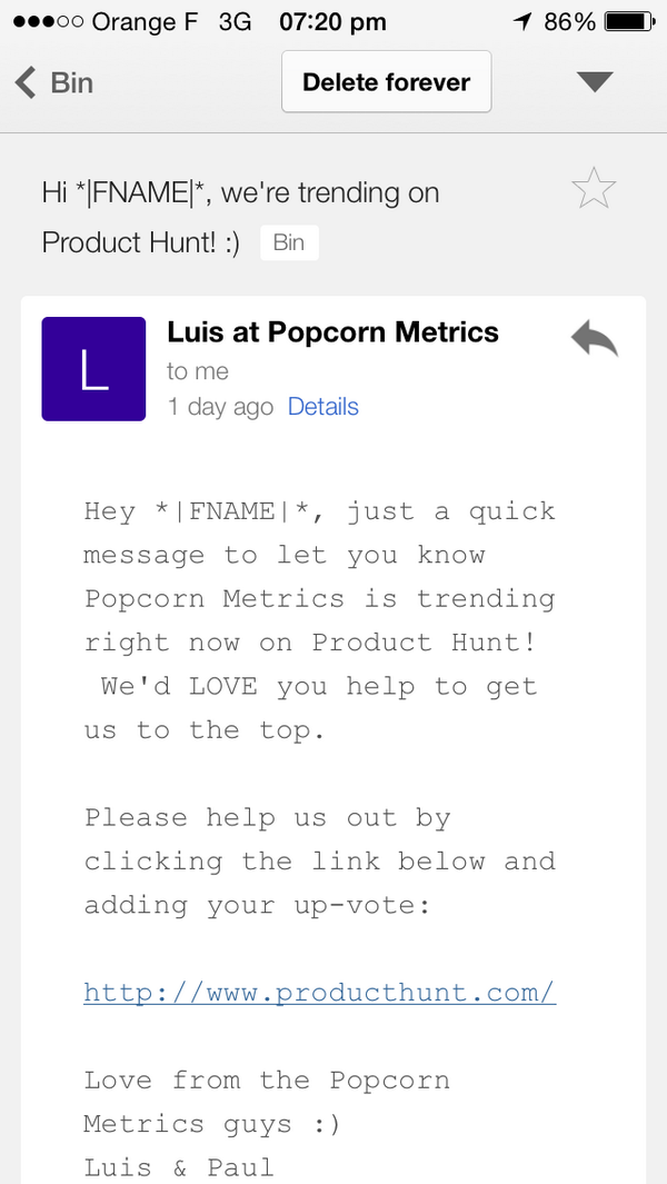 This gets the prize for the email marketing. #fail of the week hitting my inbox recently.