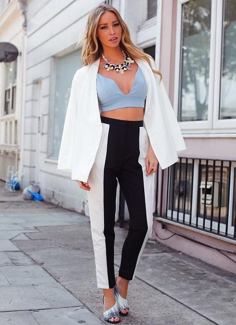 RT @RichmanBrands: @LaurenPope wears blue bralet from @inthestyleUK #ItsByLP and collarless jacket from @LavishAlice 👌! http://t.co/2e0169m…