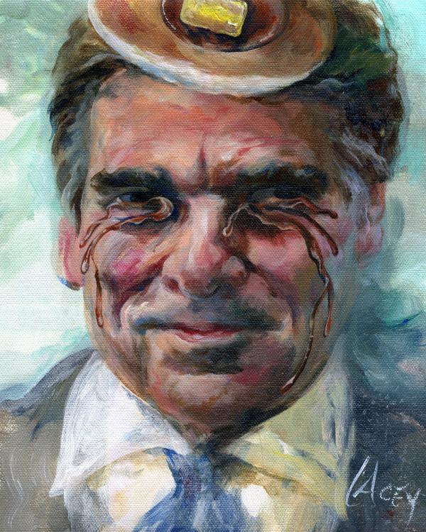Texas Governor Rick Perry Mugshot painting, revised http://t.co/NrRD2YyOPi