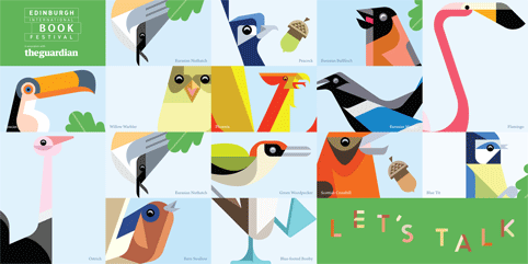 Colourful bird branding for Edinburgh International Book Festival - take a look: http://t.co/6S7IY5jf7L #design http://t.co/XhkW4i7P9i