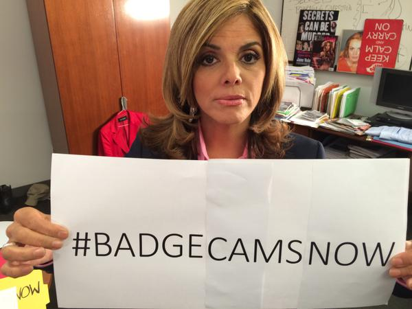 My call to action: Every police officer wearing a uniform should have a #BadgeCam! Retweet if you agree! #Ferguson http://t.co/ksl8kqEOSS