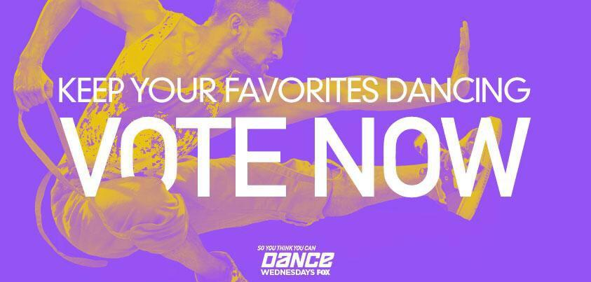 Remember to vote America if you want to see your favorite dancer win this season's @DANCEonFOX! #SYTYCD http://t.co/ITCIlI4DdD