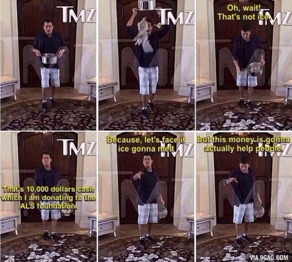 ALS'ye böyle dikkat çekilir! Yok alkolikmiş yok sapıkmış! Adam gibi adam Charlie Sheen! http://t.co/3mQJPhDdTe