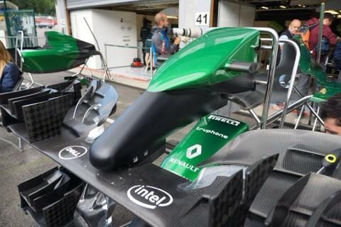 Caterham showed new nose design - http://t.co/VG5QI2rxBL #F1