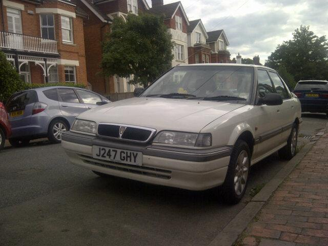 Rover 400 with grille