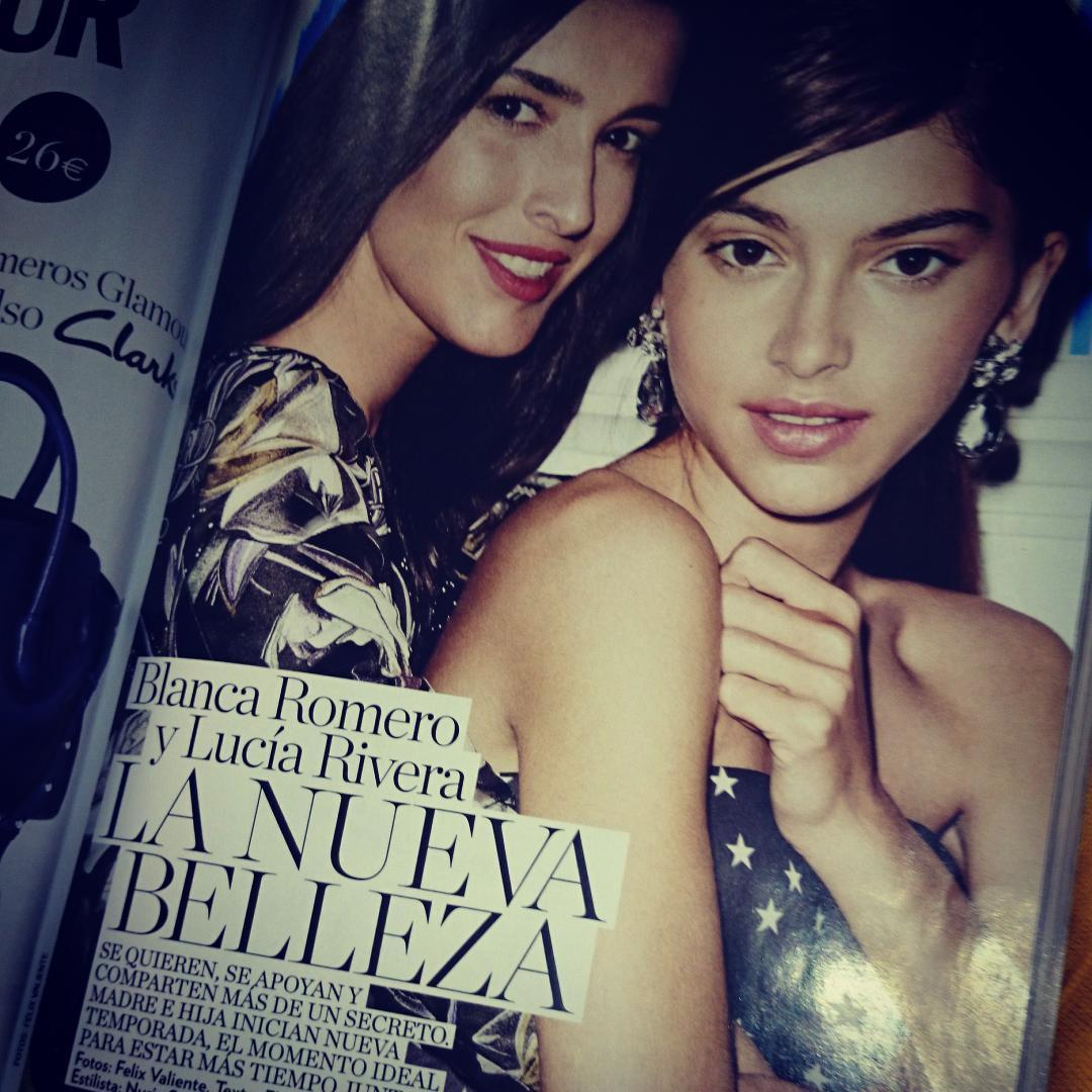 Blanca romero on twitter este mes en la revista glamour for Blanca romero twitter