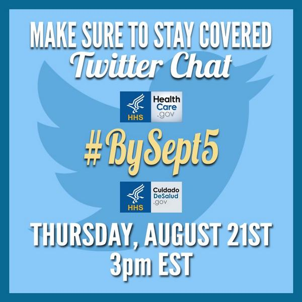 Thumbnail for #BySept5 Twitter Chat: Make Sure to Stay Covered