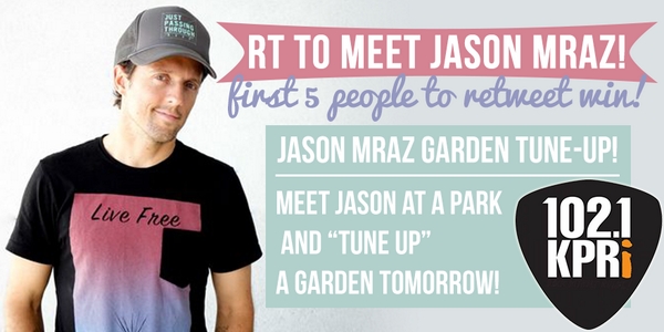 First 5 to RT this win a super cool meet & greet opportunity w/ #JasonMraz tomorrow! His tour kicks off TONIGHT! http://t.co/MAYkDY7f56