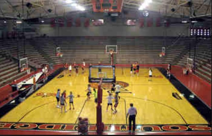 Hoosier temples on twitter indiana high school gym size for Basketball gym dimensions